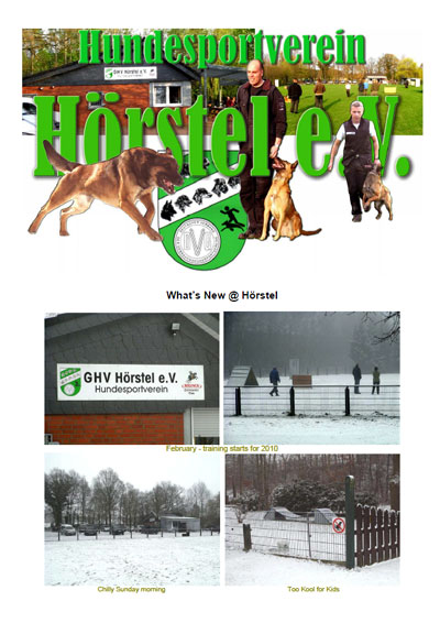Nordenstamm Malinois in Hoerstel Club Germany