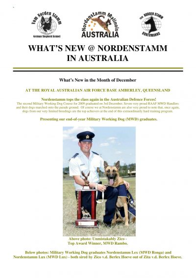 Nordenstamm News 2009-2010