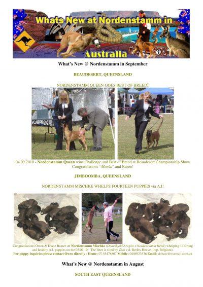 Nordenstamm News australia 2010-2011 2010