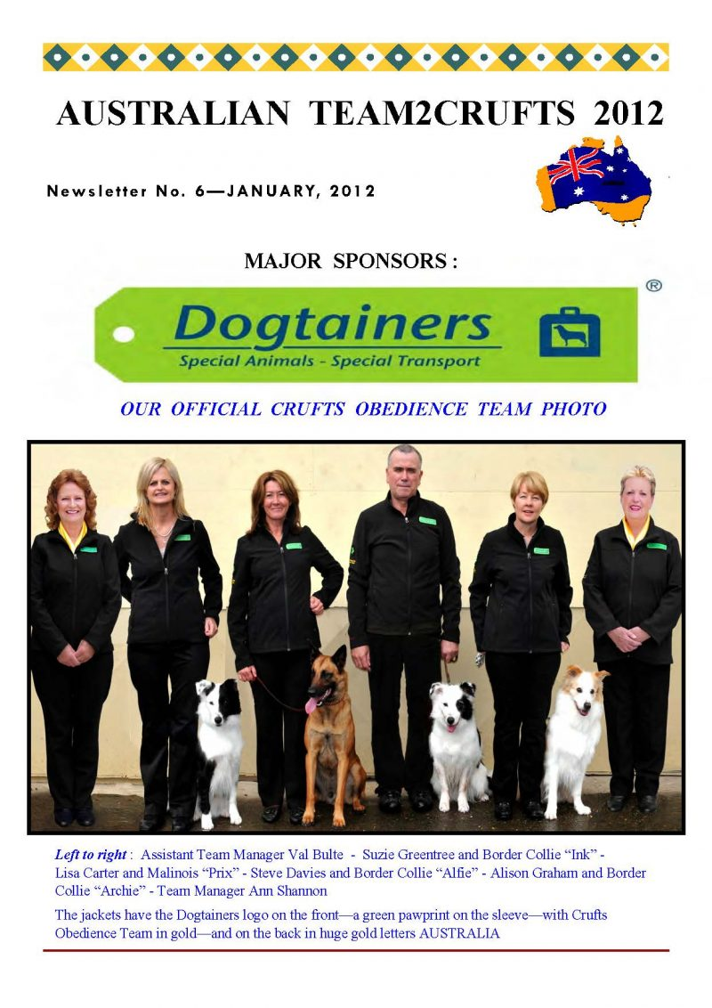 Nordenstamm Prix and Team Australia at Crufts