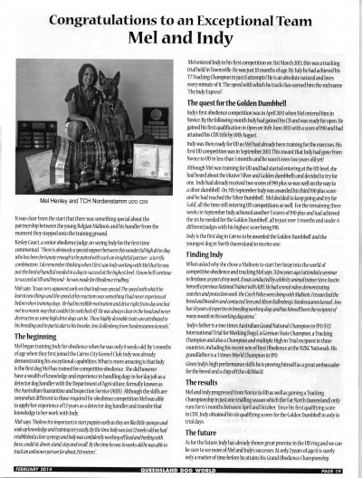 Nordenstamm Udo 2013 Dog of the Year